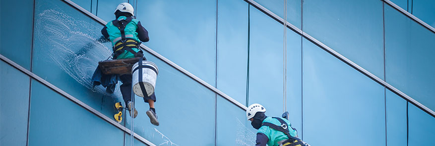 high window cleaning