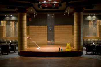 Entertainment stage cleaning